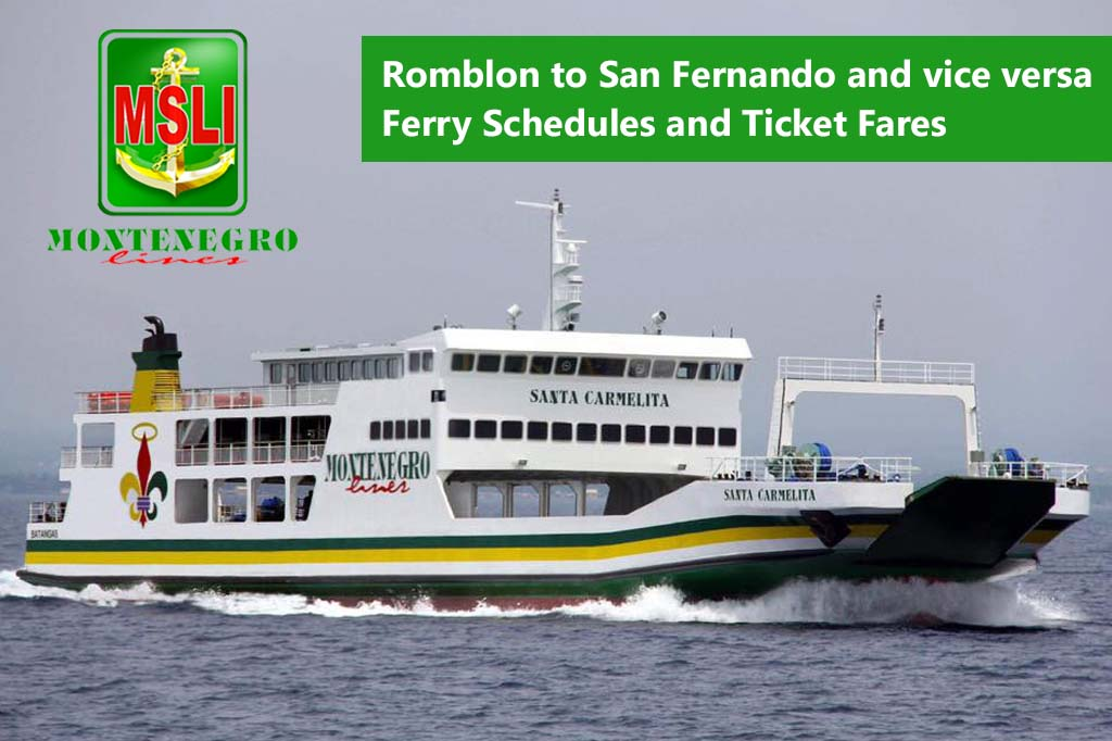 2020 Montenegro Lines Romblon-San Fernando: Schedule, Fare, Travel Time