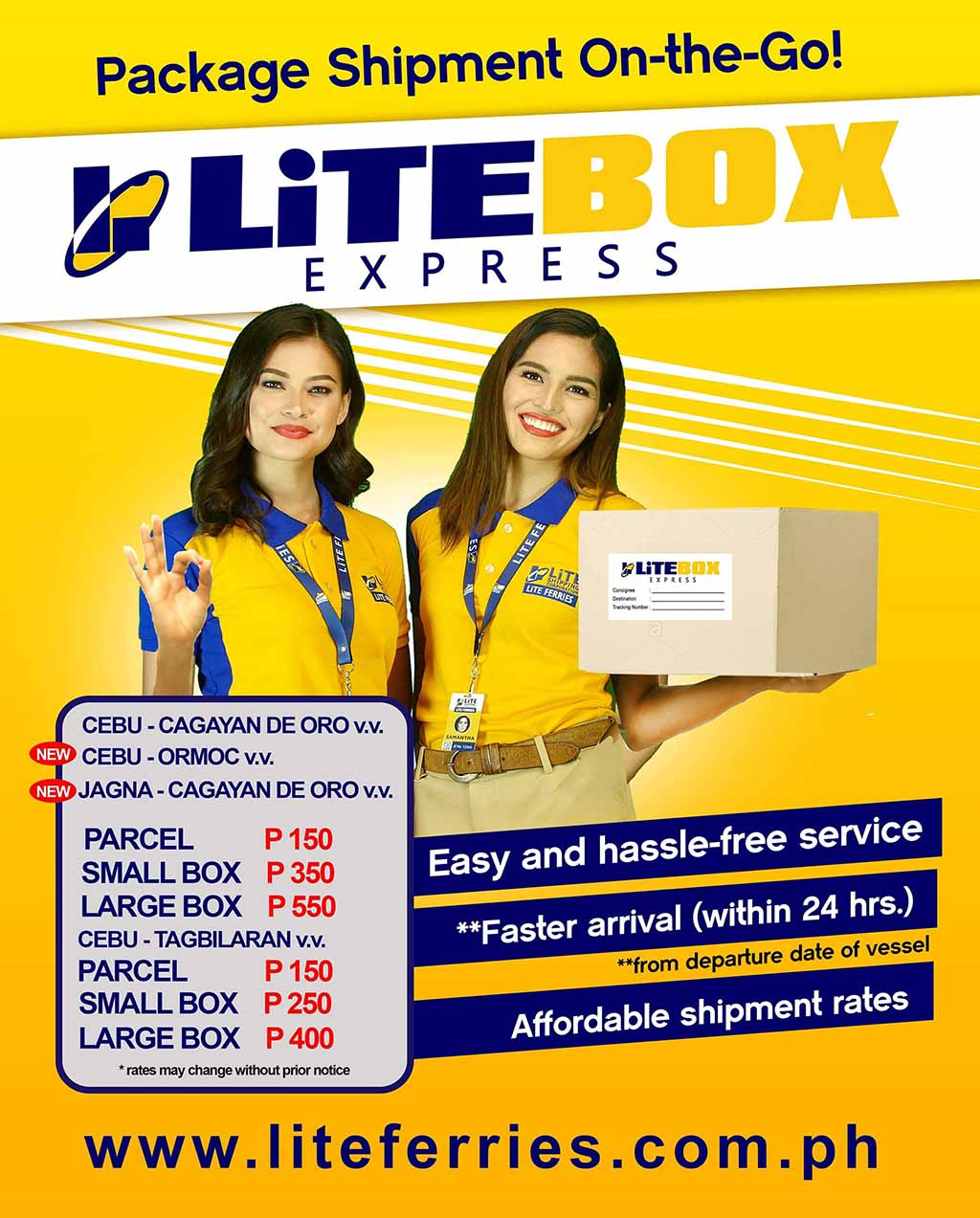 LiTE Box Express Routes and Pricing (Source: Facebook)