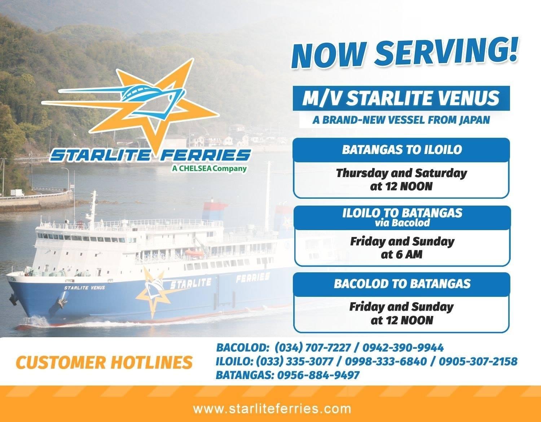 Batangas-Iloilo-Bacolod Ferry Schedule