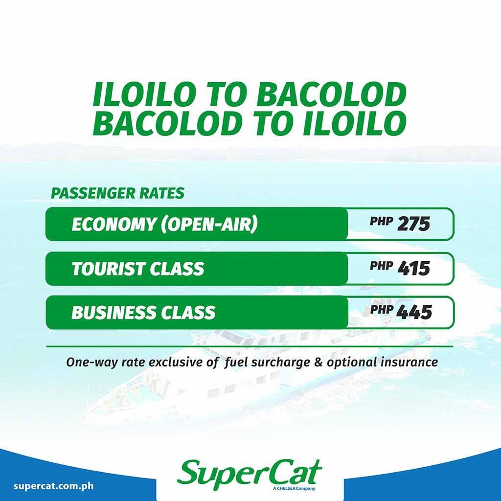 SuperCat Bacolod-Iloilo Fare Rates