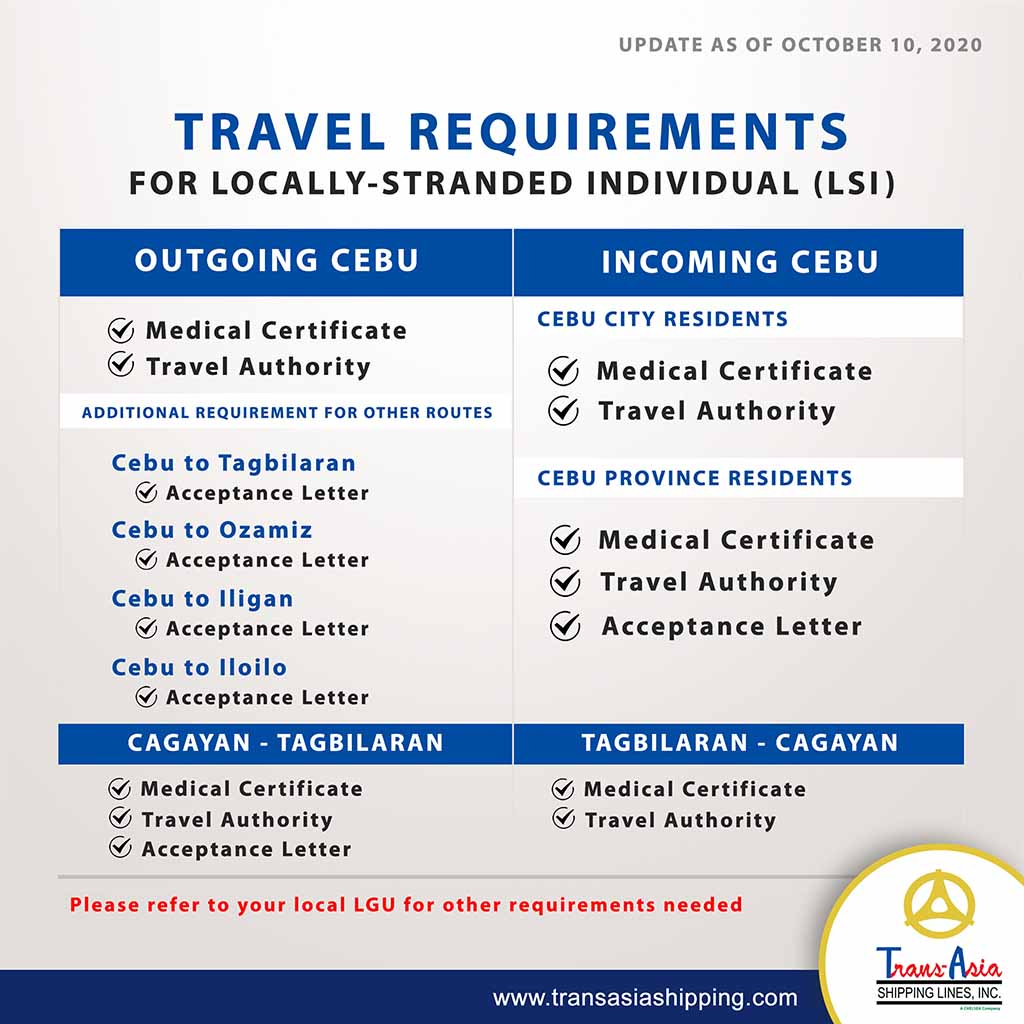 LSI Travel Requirements (Trans-Asia)