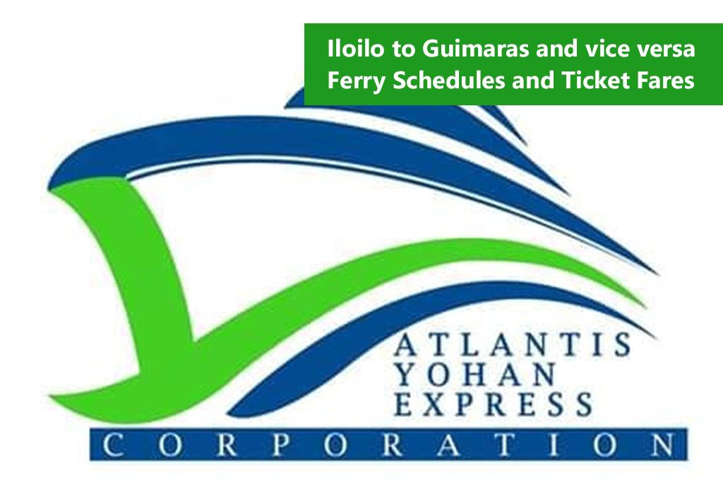 Iloilo to Jordan, Guimaras and v.v.: Atlantis Yohan Schedule & Fares