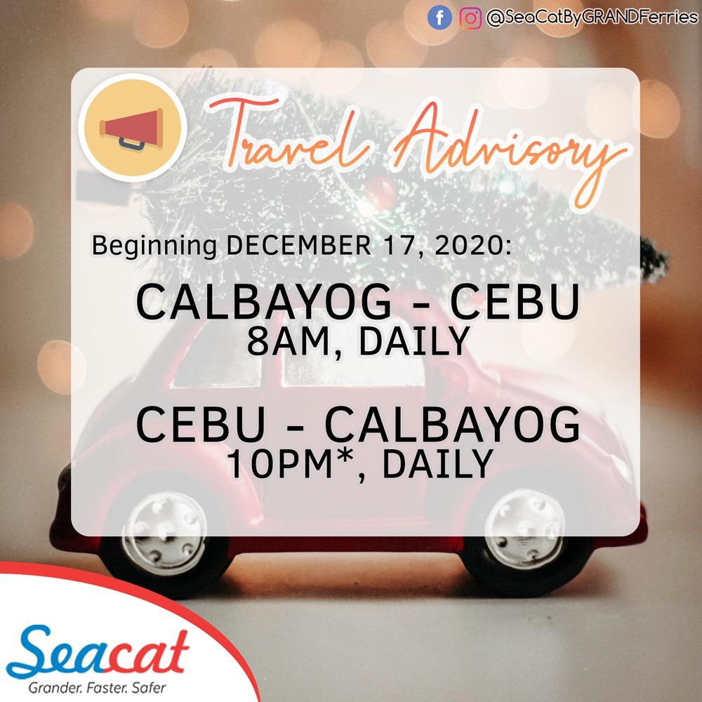 SeaCat Cebu-Calbayog Ferry Schedules