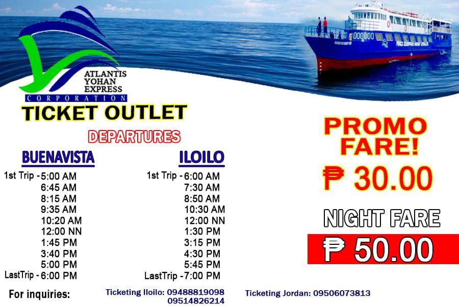 Atlantis Yohan Express Buenavista-Iloilo Ferry Schedule