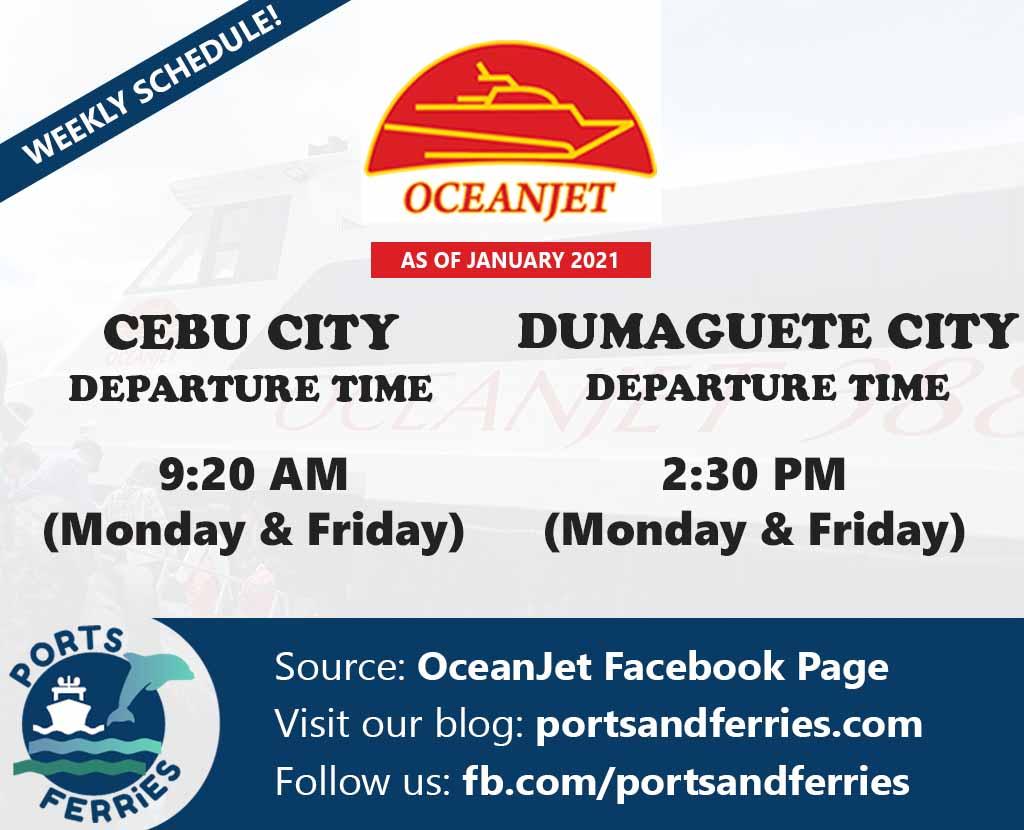 OceanJet Cebu-Dumaguete Ferry Schedules
