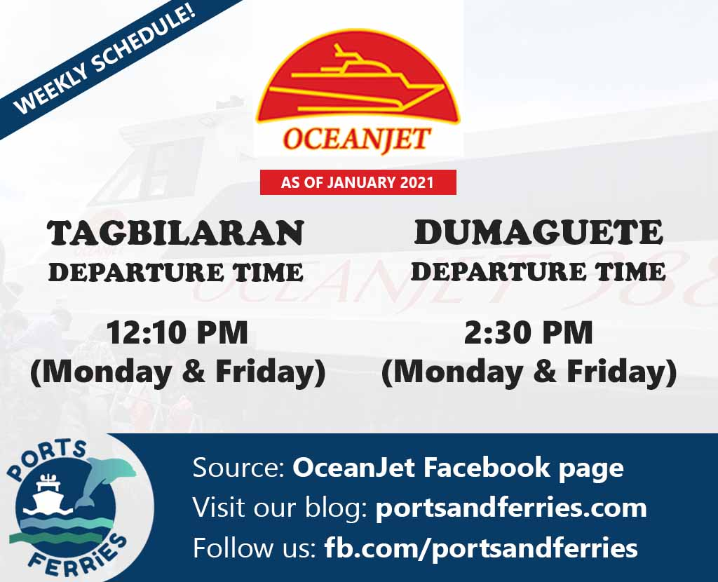 OceanJet Tagbilaran-Dumaguete Ferry Schedules