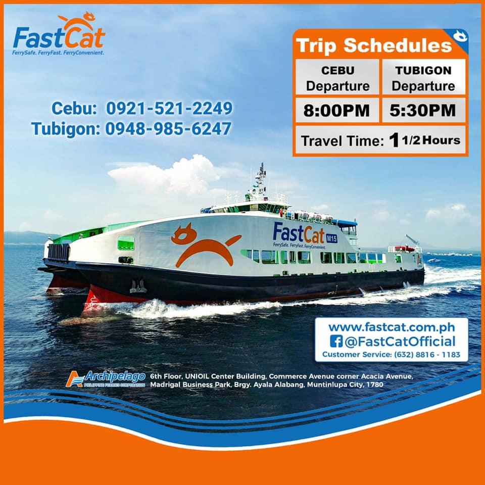 FastCat Cebu-Tubigon Ferry Schedule