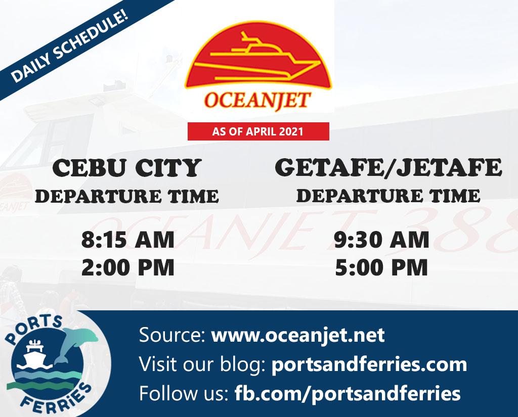 OceanJet Cebu-Getafe Ferry Schedules