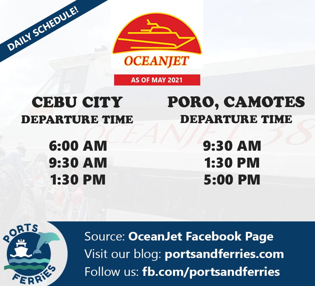 OceanJet Cebu-Camotes Ferry Schedule