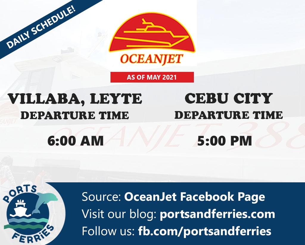 OceanJet Cebu-Villaba, Leyte Ferry Schedule