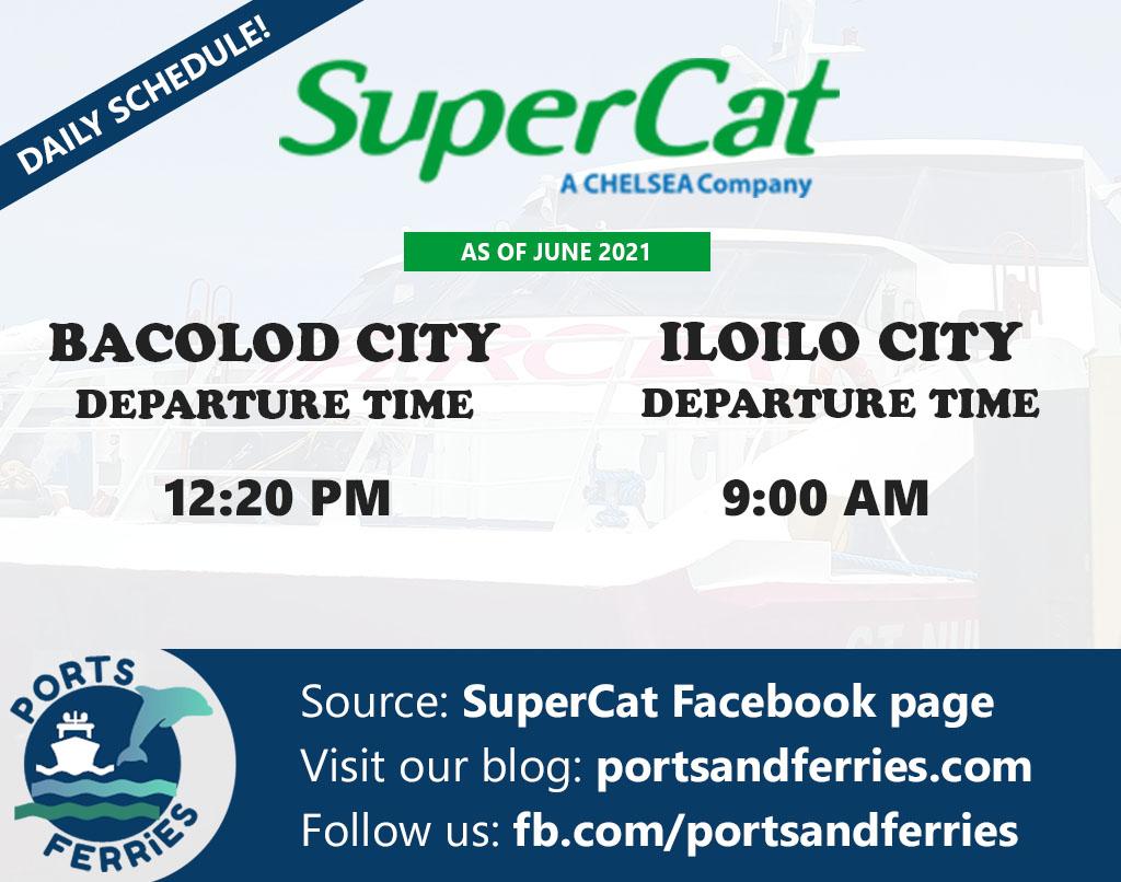 SuperCat Bacolod-Iloilo Ferry Schedule